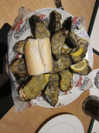 Charbroiled oysters. Meh.
