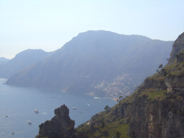 View of Positano halfway through the hike