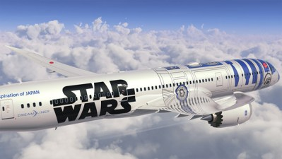 Boeing and ANA Roll out the R2-D2 787 Livery