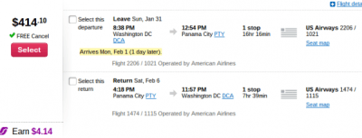 AA Panama Fare Sales: $400 RT From Many Cities, Through Spring 2016