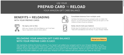 Load prepaid gift cards to Amazon to get rid of small balances