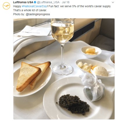 Which Airline Serves 5% of the Worlds Caviar Supply?
