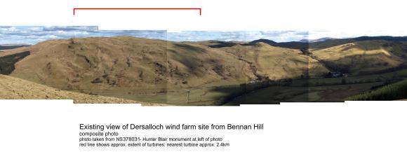 View from Bennan Hill