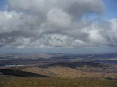 Loch Bradan and Craiglee from Shalloch on Minnoch - Glenmount behind
