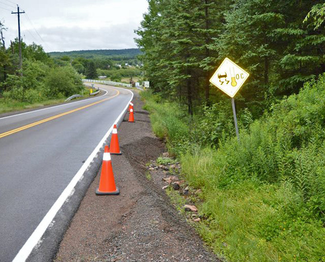 15 months to get pylons for the shoulder of the road. Lucky, noone was killed... yet!