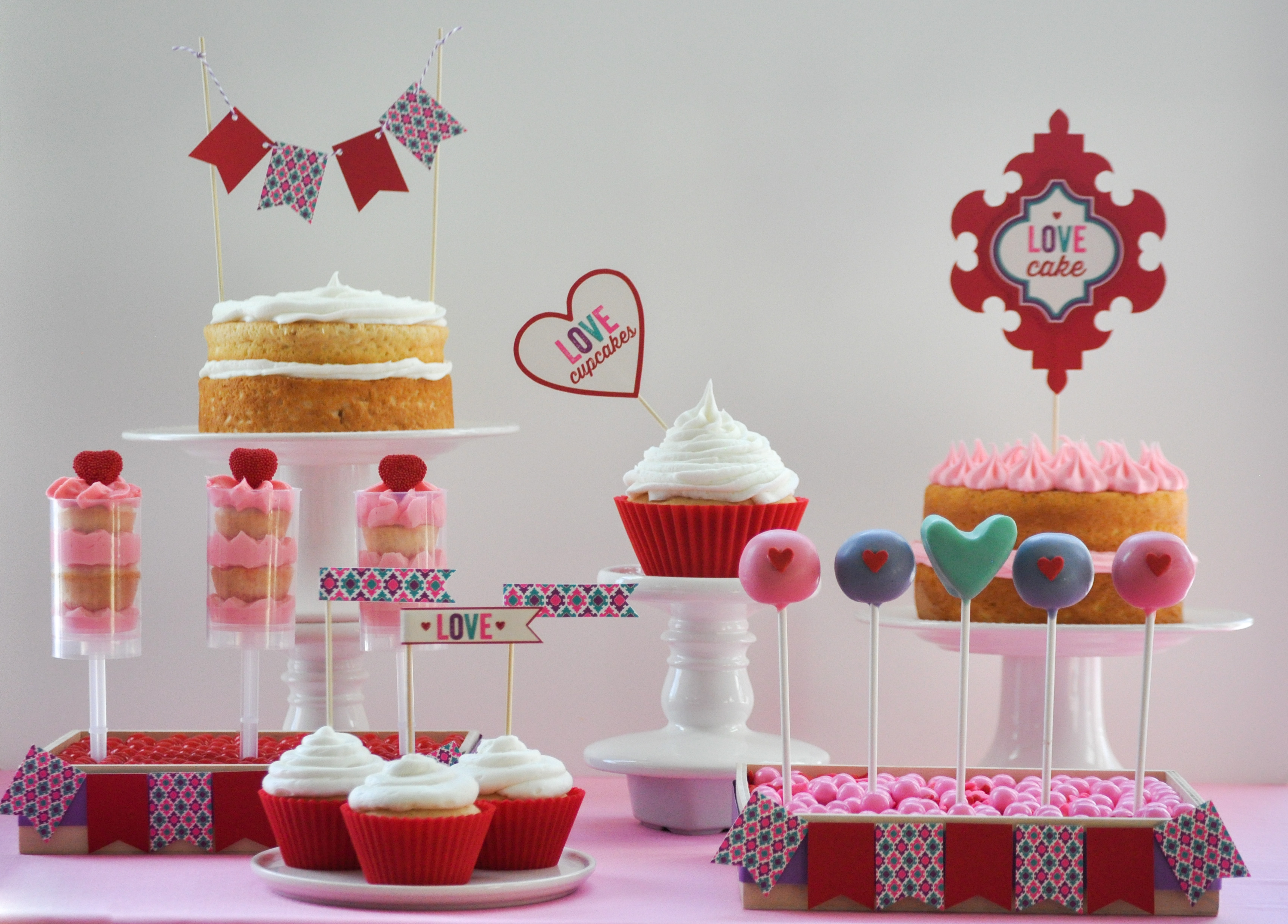 Valentine S Day Love Cake Dessert Table