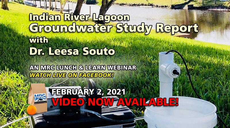 February 2021 Lunch and Learn: Groundwater Study