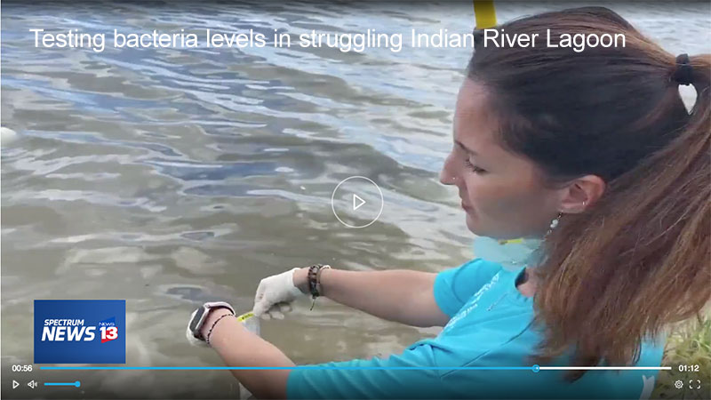 MyNews13: Caity Savoia of the Marine Resources Council gathers IRL water samples for testing.