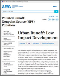 U.S. EPA Low Impact Development Webpage