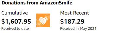 Amazon Smile Donations to MRC