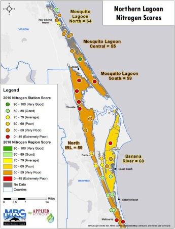 2016 North Lagoon Nitrogen Scores