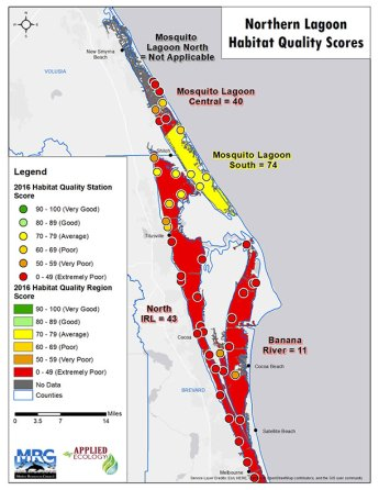 Habitat Quality Scores: Northern Lagoon