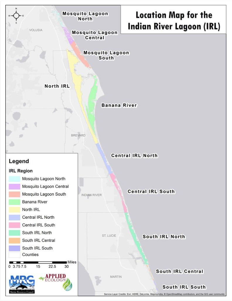 Location Map for the Indian River Lagoon (IRL)