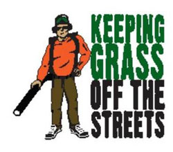 keeping grass off the streets