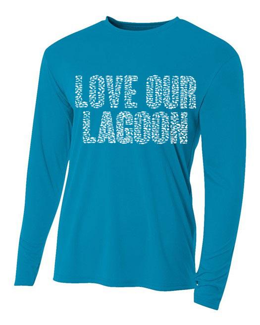 Electric Blue Love Our Lagoon Dri-FIT Unisex Long Sleeve Tee-Shirt