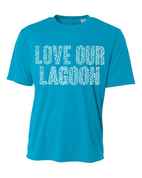 Electric Blue Love Our Lagoon Dri-FIT Unisex Short Sleeve Tee-Shirt