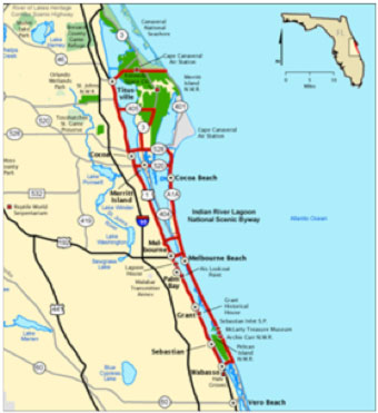 Map: The Indian River Lagoon