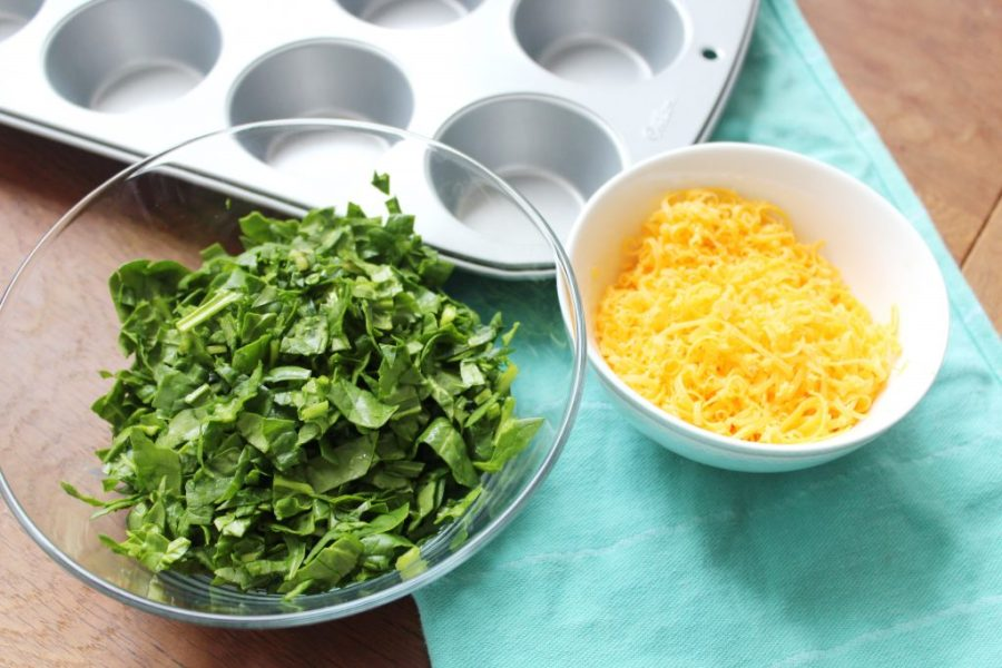 ei muffins met spinazie