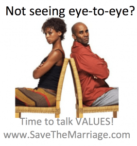 Save your marriage by talking about values.
