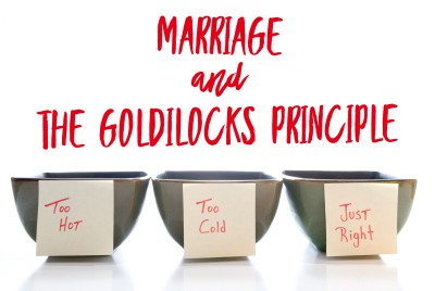 """Happy marriages, hurting marriages, and the """"Goldilocks Principle"""""""