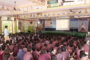 school presentation, India