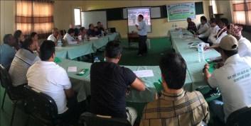 Dr. Chhabilal Thapa talking on snakebite management in Nepal.