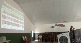 Nepalese Army Officer giving the welcome speech