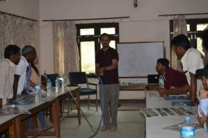 Mr. Ashish Bashyal, President of BioCon Nepal demonstrating snake handling techniques