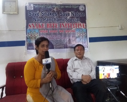 Dr. Chhabilal Thapa and Dr. Rohan Jha interviewed by media