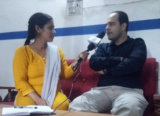 Dr. Rohan Jha interviewed by media