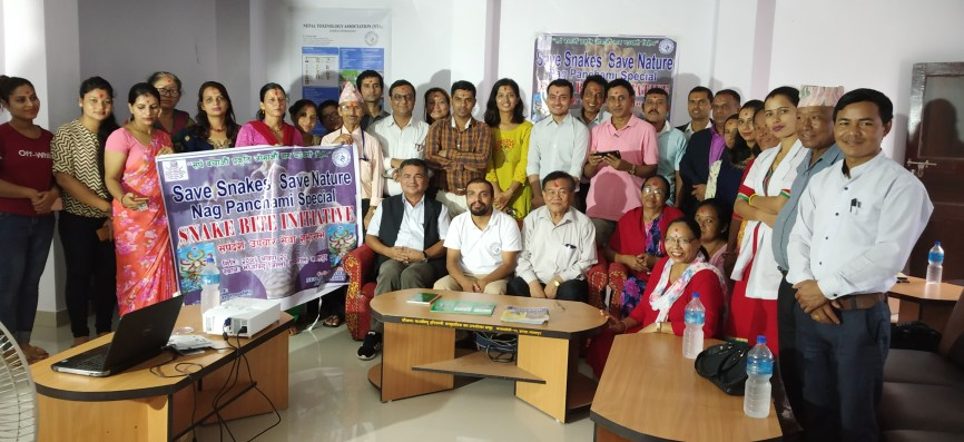 Group photo after the Nag Panchami celebration