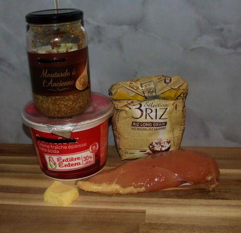 les ingrédients des aiguillettes de poulet à la moutarde