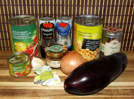 les ingrédients pour faire la moussaka libanaise sans viande