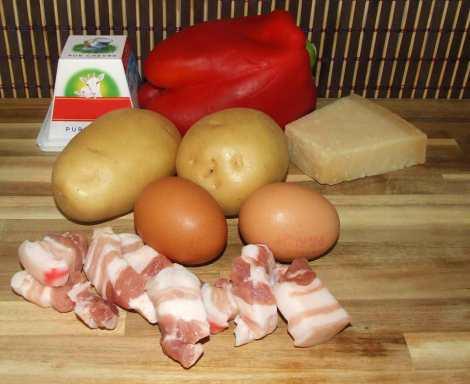 Les ingrédients du gratin aux légumes