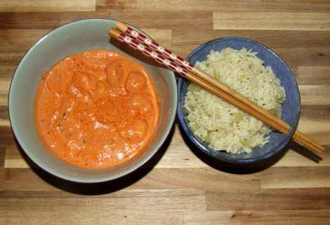 la recette de poulet tikka masala terminée
