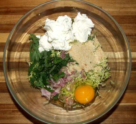 la préparation pour la recette de galette de quinoa