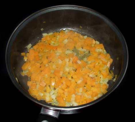 les légumes et la vodka pour la recette salée d'Halloween