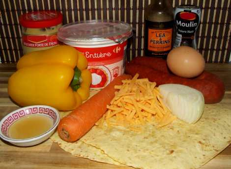 les ingrédients pour les quesadillas maison