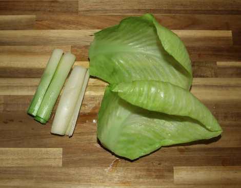 les legumes verts blanchis pour le pot au feu à l'ancienne