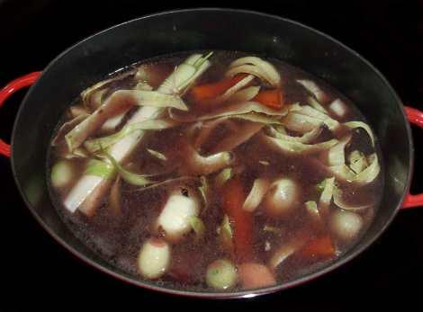 la cuisson du pot au feu à l'ancienne