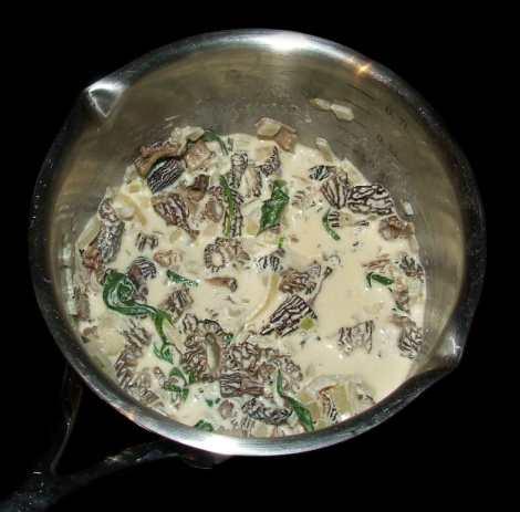 la sauce du feuilleté au boeuf et morilles