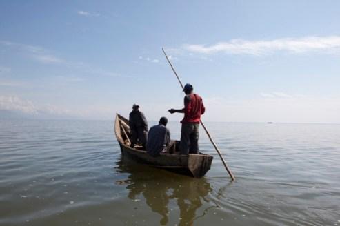 Fishermen in North Kivu (Virunga NP) Foto: Jan Joseph Stock