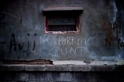 no parking cunt