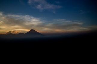 Agua, volcano, sunset