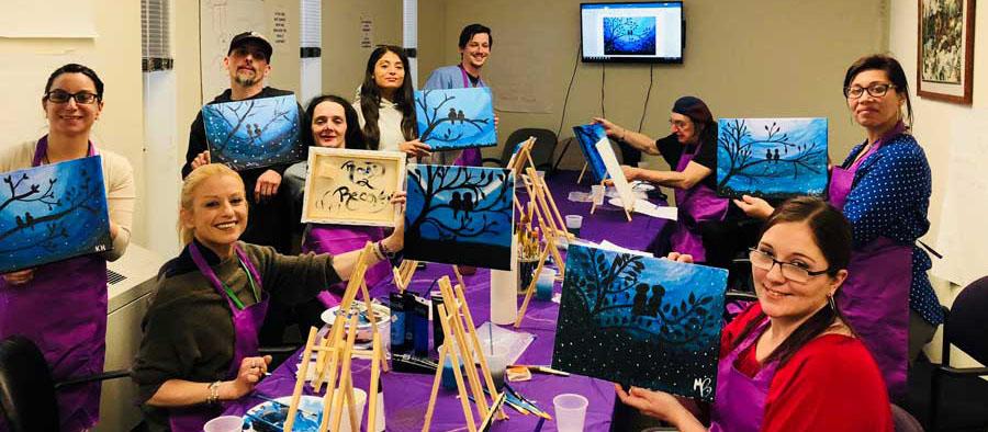 Patient Paint Night at SaVida Health