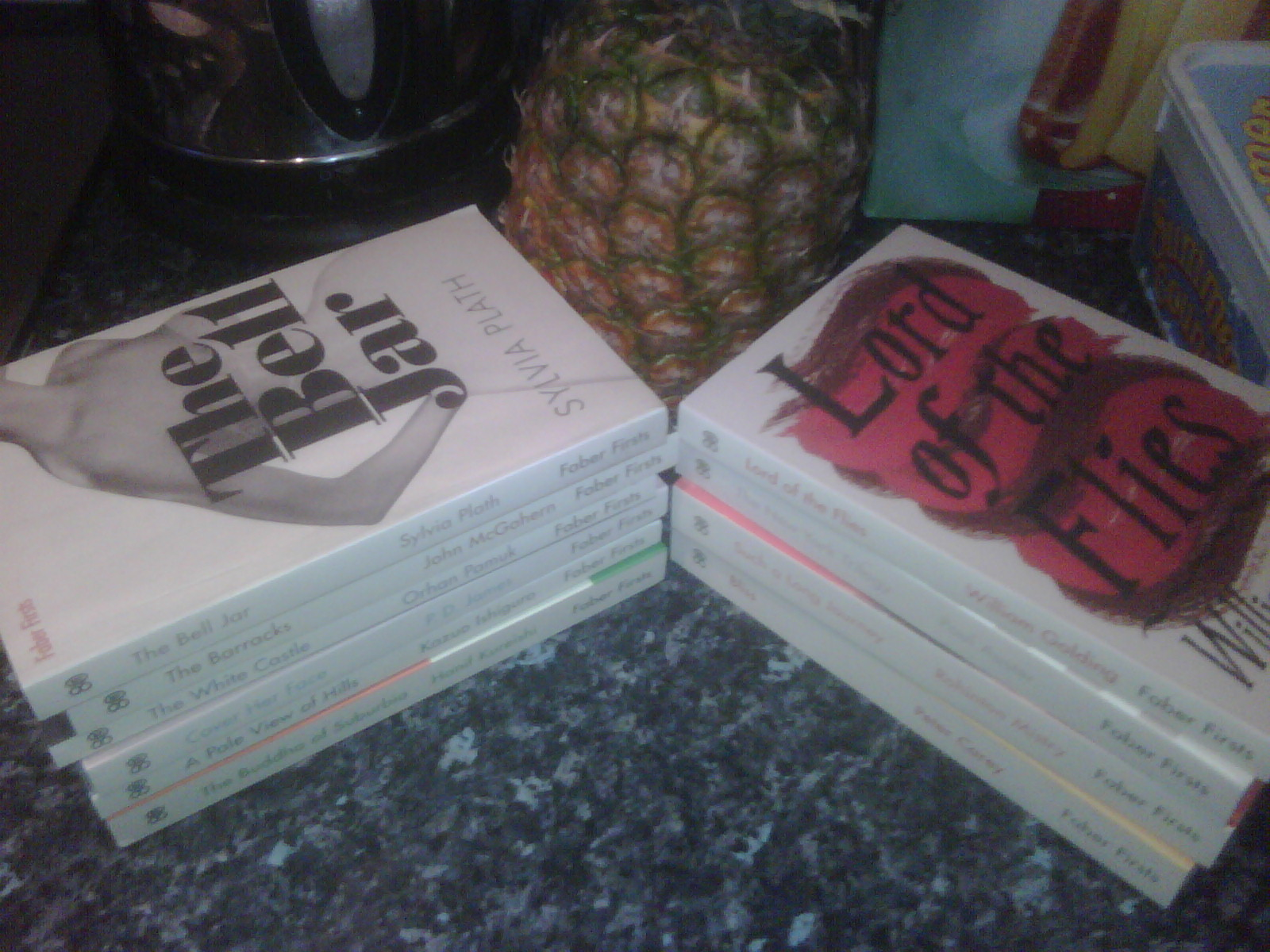 The Faber Firsts (And A Pineapple - I Opened Them Hurridly In My Kitchen - Apologies)