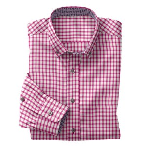Men's pink gingham shirt