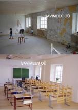 Mooste põhikooli algklass: rooplaat, lubikrohv ja lubivärv