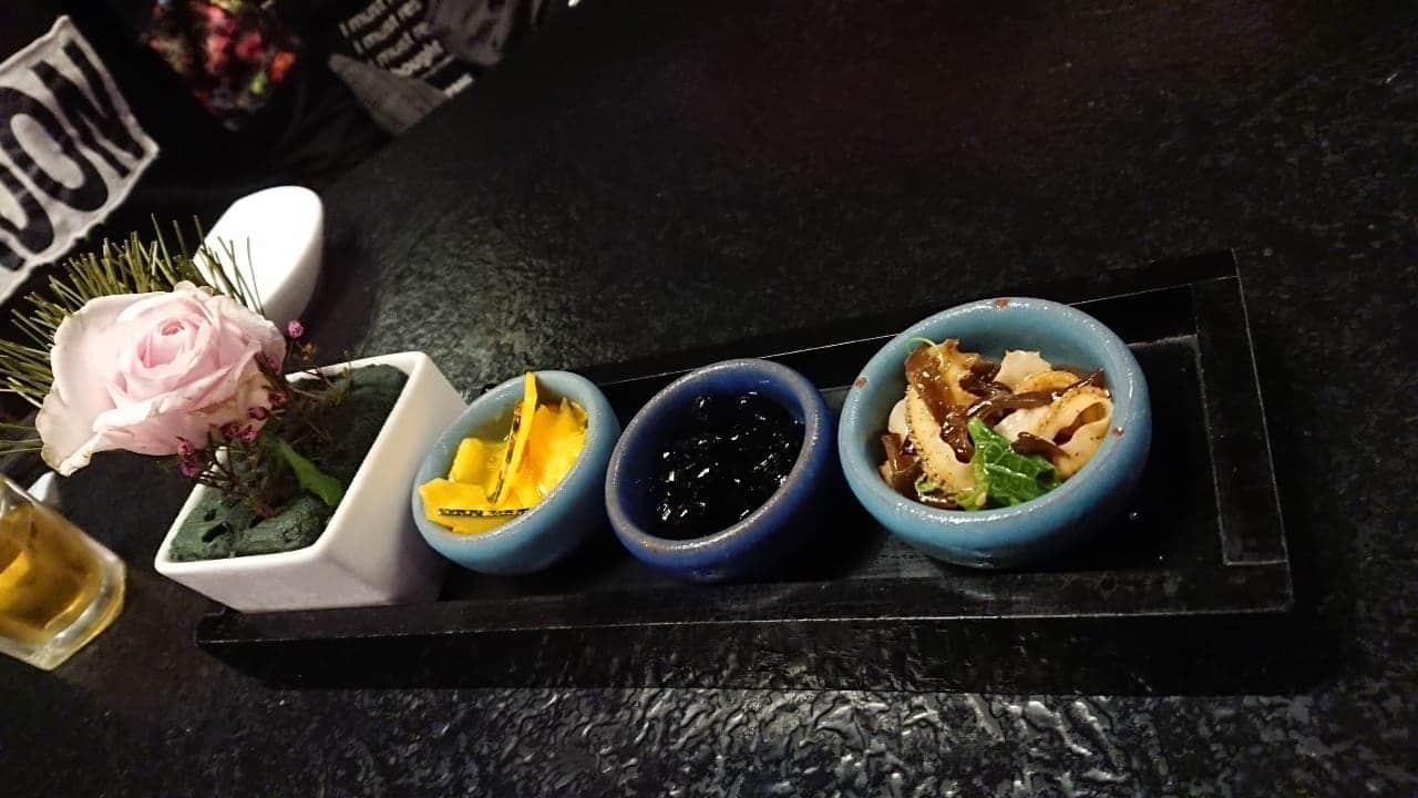 ikki藝奇新日本料理-百香果南瓜、蜜黑豆、涼拌魚皮