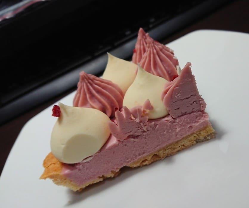 黑手甜點 【莓果生乳酪塔】切面
